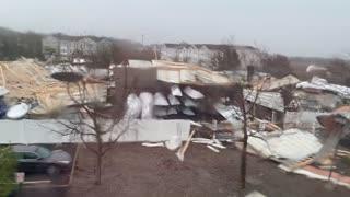 Severe Rain Storm Blows Through New Jersey Marina