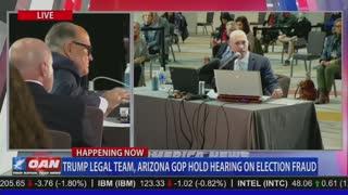 Rudy Giuliani, Arizona Witness Lay Out Terrifying Reality at Arizona Hearing