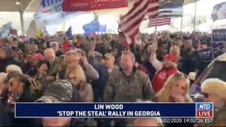 Lin Wood's Video of MAGA Rally