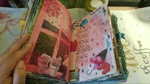 Junk journaling on a budget: Rainy Day