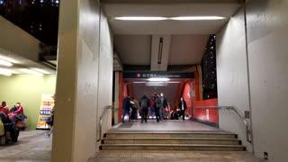 Crazy Time Lapse Video of People Walking through Hongkong - MTR