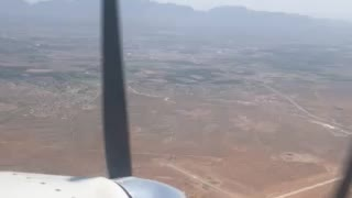 Flying with only one engine running.