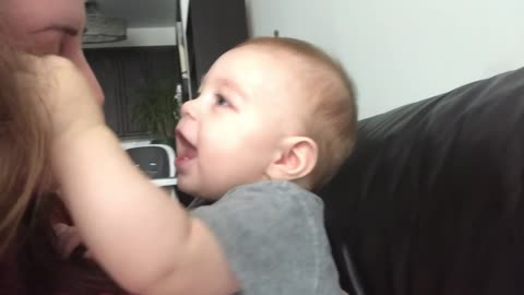 Cute Baby Got Emotional When Mom Sings Opera