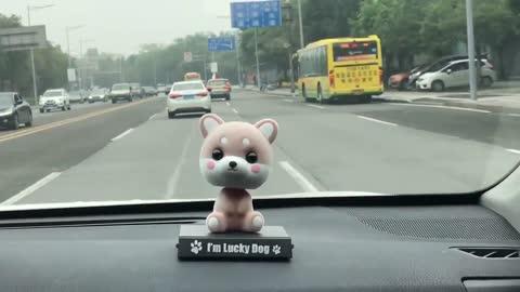 Cutest Lucky Dog Husky Car Bobblehead and Mobile Phone Holder