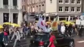 Amsterdam Covid Lockdown Protest 8-1-21