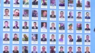 Blinken visits memorial to Ukraine soldiers