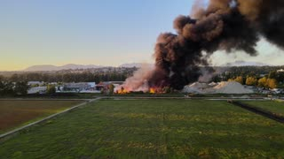 Drone Footage of a Fire in Vancouver