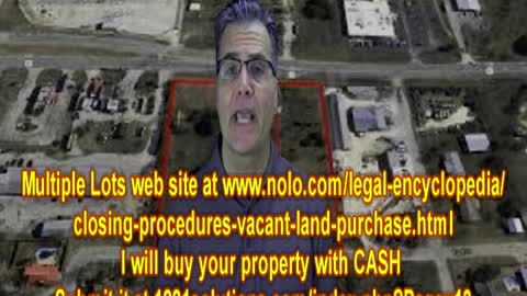 MULTIPLE LOTS wants to BUY YOUR Property