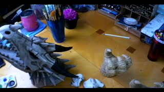 Painting a Dragon Head!!!!