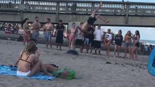 Backflip Fail on the Beach