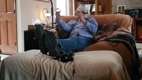 Grandpa fishing VR