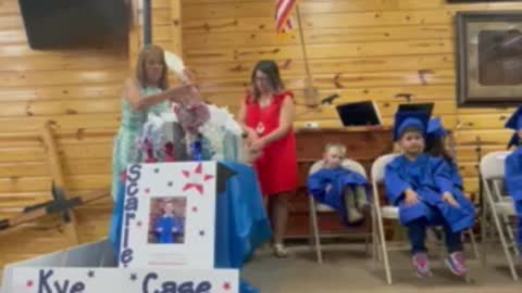 Scarlett's preschool graduation 2021