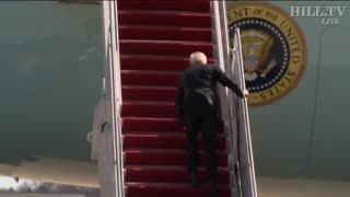 Biden Trips Going into Air Force One