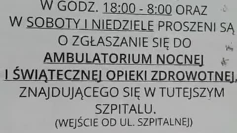 Wkurzona mieszkanka Augustowa odwiedziła pusty szpital przerobiony kowidowy w tym mieście