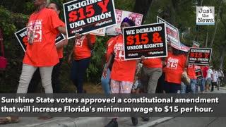 Floridians vote to gradually raise minimum wage to $15 per hour
