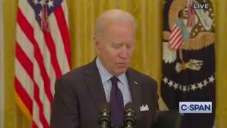 TRAIN WRECK - Biden's Explanation For Still Wearing a Mask Makes No Sense