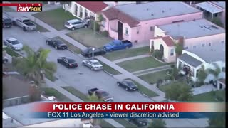 Police Pursuit Ends in Spectacular Collision off Crenshaw