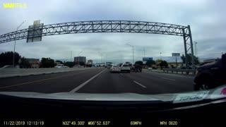 Driver Swerves Through Texas Traffic