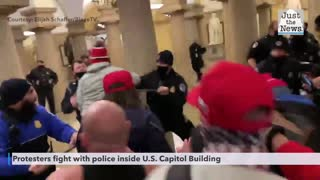Protesters fight with police inside Capitol Building