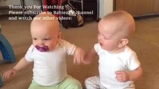 Funniest Twin Baby Girls fighting over