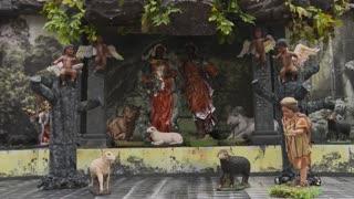 Black Jesus born in burnt Amazon at Brazil church manger