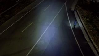 Coronavirus Drone Cop Lights Way For Lonely Pedestrian