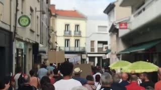 Mont-de-Marsan, France: Protests Against Vaccine Passports