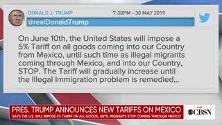 President Trump announces new tariffs on Mexico