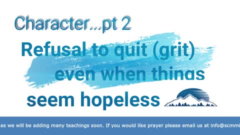 Character: Refusal to Quit