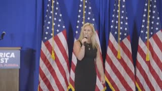 Marjorie Taylor Greene Scorches The Left During America First Rally
