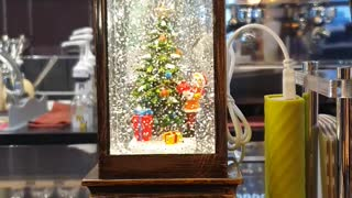 christmas tree with Santa