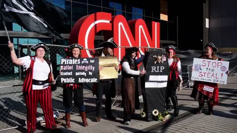 CNN endorses Stealing Pirates Joe Biden Victory ~ Stop the Steal Rally Live in Georgia