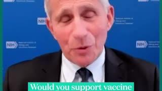 Dr. Fauci supports vaccine mandates