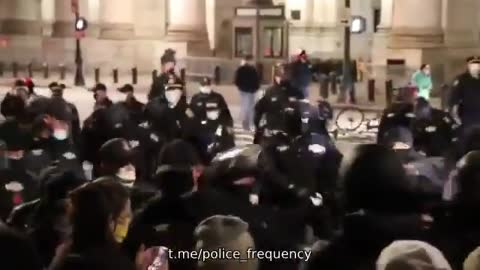 11 NYPD officers injured in rioting last night