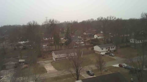 Drone flight in snowfall and winds