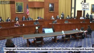 Jim Jordan has a fiery exchange with David Cicilline during tech hearing