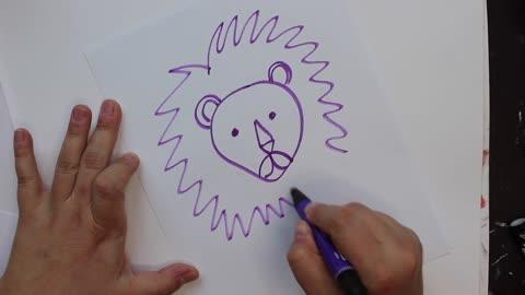 Doodle a Lion