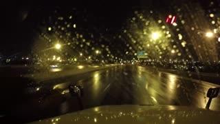 Crazy drive at night.