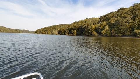 Pontoon Ride at Salt Fork Lake in Guernsey County Ohio
