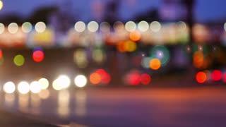 Special Blurry Lights Around Traffic Corner
