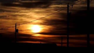 Sunset timelapse. Shiprock NM. Beautiful timelapse of the sunset.