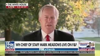 White House Chief Of Staff Mark Meadows On Stimulus Talks