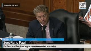 Flashback: Dr. Fauci and Sen. Rand Paul disagree over coronavirus immunity