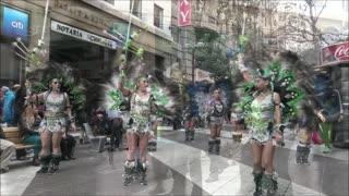 Bolivian and Peruvian dance festival in Santiago, Chile