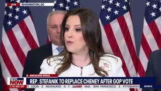 Elise Stefanik Speaks After Being Named to Replace Liz Cheney