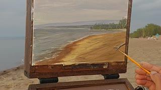 Plein air painting in Lake Erie