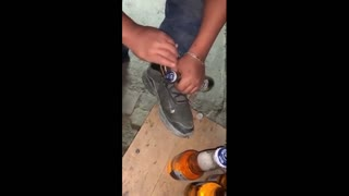 How to open a soda bottle with a Shoelace