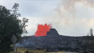 Lowland estates lava eruption 2018