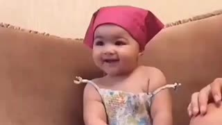 Cute baby dancing with turkish music