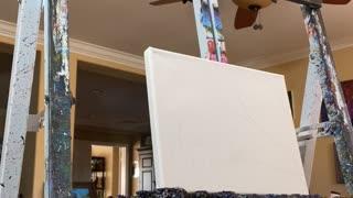 Acrylic painting time lapse